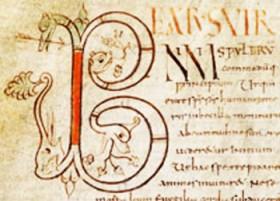 Lettrine B du commentaire sur les psaumes I-L de Cassiodore
