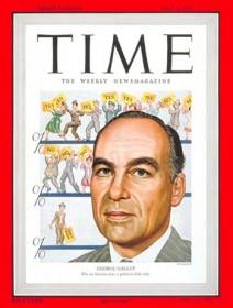 George Gallup en couverture de Time Magazine