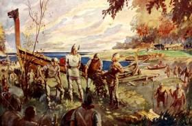 Des Vikings sur une côte