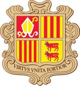 Les armoiries de la Principauté d'Andorre