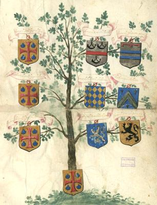 Un arbre généalogique et des quartiers de noblesse