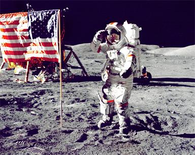 Illustration : un astronaute sur la Lune