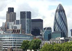 Vu de la City à Londres (City of London)