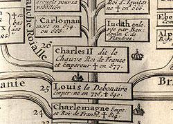 Généalogie descendante de Charlemagne