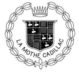 Le logo de Cadillac en 1906 : les armoiries d'Antoine Lamothe-Cadillac