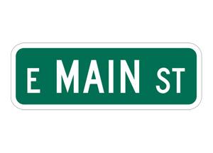 Un panneau de Main Street