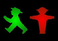 Les Ampelmännchen vert et rouge de l'Allemagne de l'Est