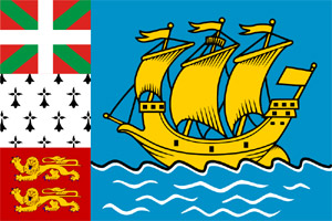 Le drapeau de Saint-Pierre-et-Miquelon