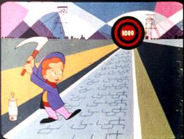 La mascotte de Jean Mineur devant sa cible