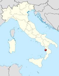 Localisation de Guardia Piemontese sur une carte de l'Italie