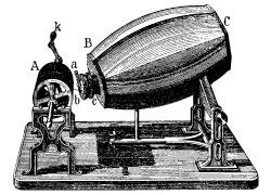 Gravure représentant le phonotaugraphe de Scott de Martinville