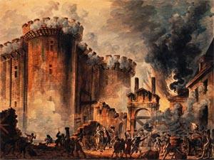 La prise de la Bastille peinte par Jean-Pierre Houël (1789)