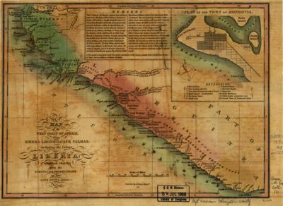 Carte de la côte du Liberia en 1830