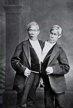 Les frères siamois Chang et Eng Bunker