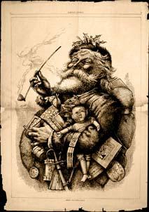 Une gravure du père Noël par Thomas Nast en 1881