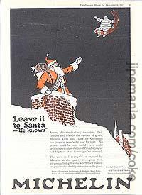 Pub américaine pour Michelin utilisant le père Noël (1919)