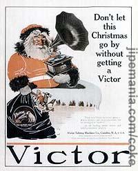 Pour pour les gramophones Victor utilisant le père Noël (1908)