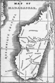 Carte ancienne de Madagascar (1839)