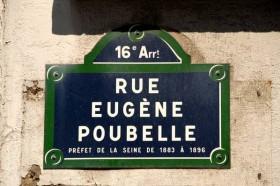 Plaque de la rue Eugène Poubelle à Paris 16è